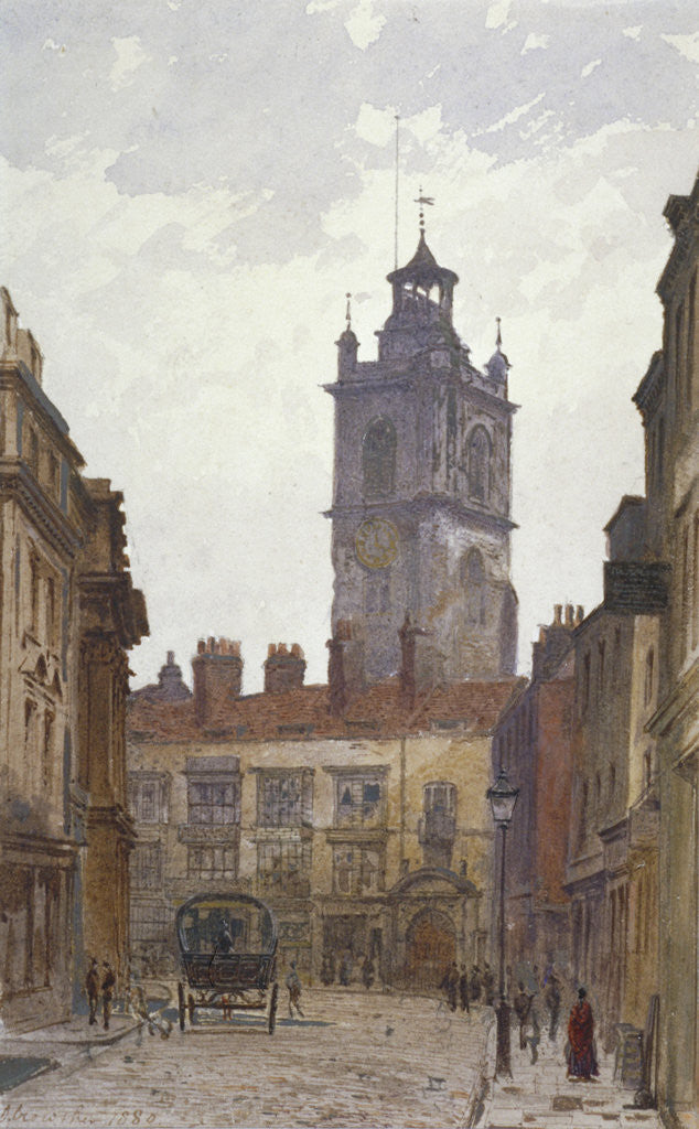 Detail of Church of St Giles without Cripplegate, City of London by John Crowther