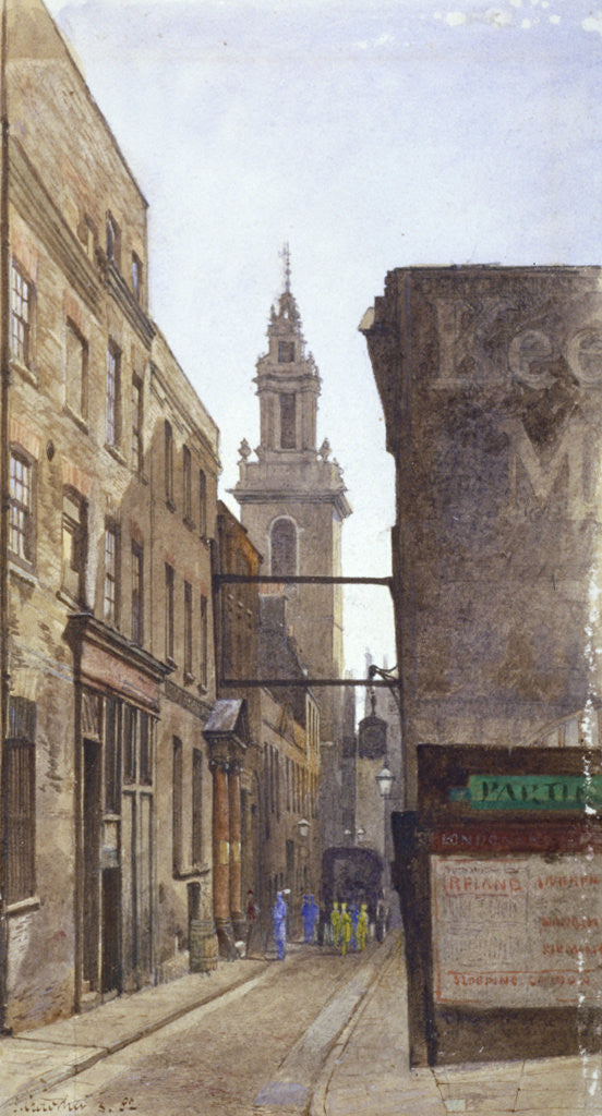 Detail of Garlick Hill, City of London by John Crowther
