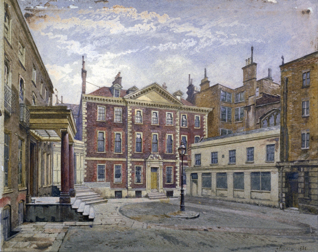Detail of Austin Friars Street, City of London by John Crowther