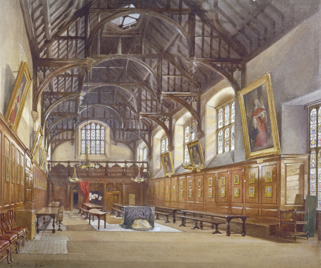 Detail of Gray's Inn Hall, London by John Crowther