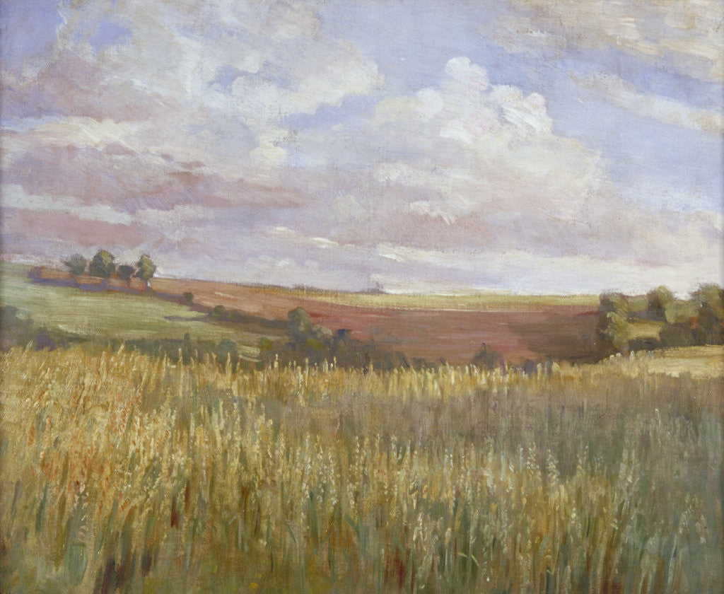Detail of The Cornfield by Anna Lea Merritt