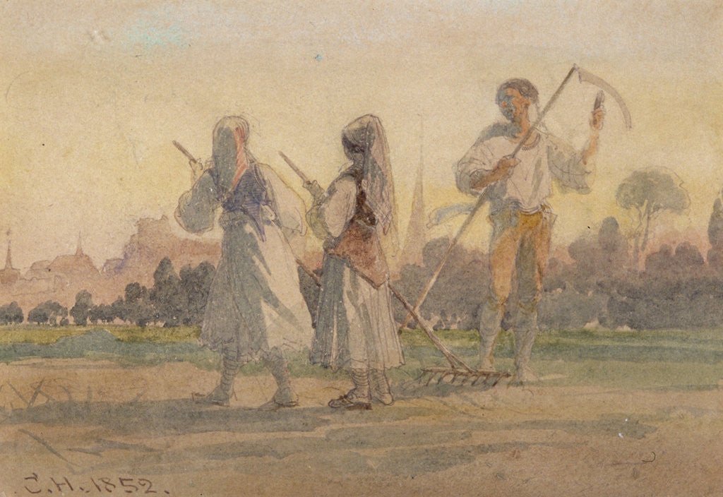 Detail of Franconian Peasants near Wurzburg by