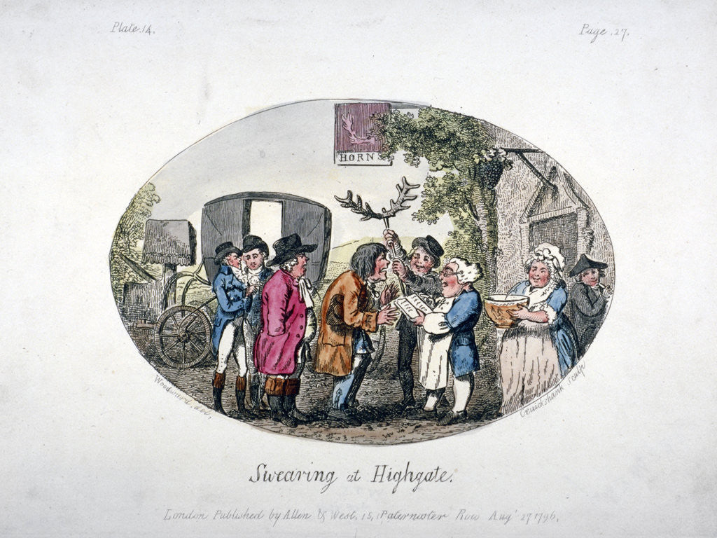 Detail of Swearing at Highgate by Isaac Cruikshank