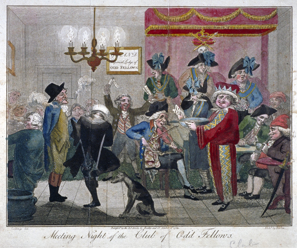 Detail of Meeting Night of the Club of Odd Fellows by John Barlow