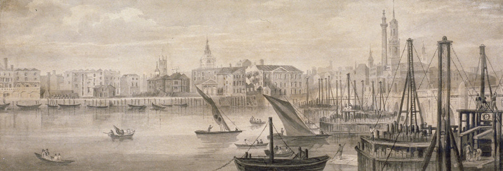 Detail of Old London Bridge by F Jackson