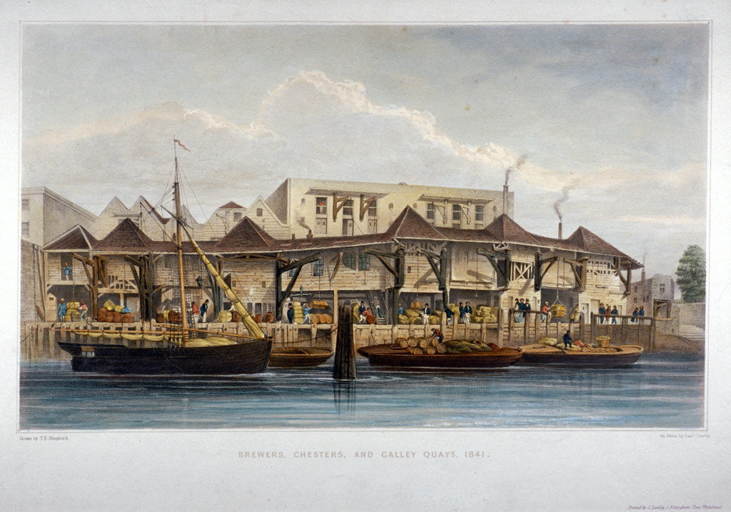 Detail of Brewer's Quay, Chester Quay and Galley Quay, Lower Thames Street, City of London by Samuel Lumley
