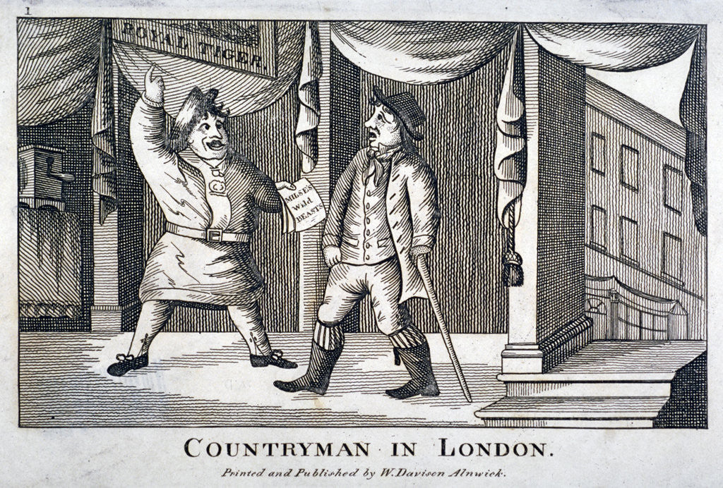 Detail of Countryman in London by Anonymous