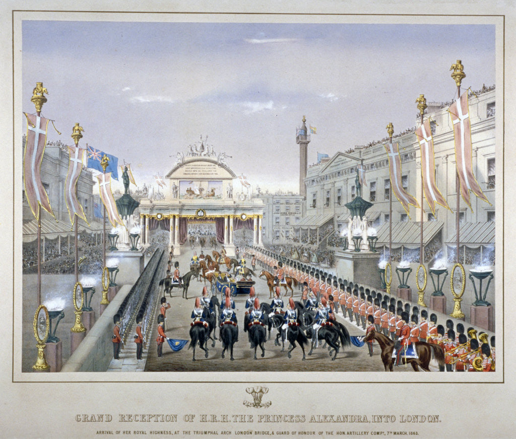Detail of Royal reception on London Bridge by