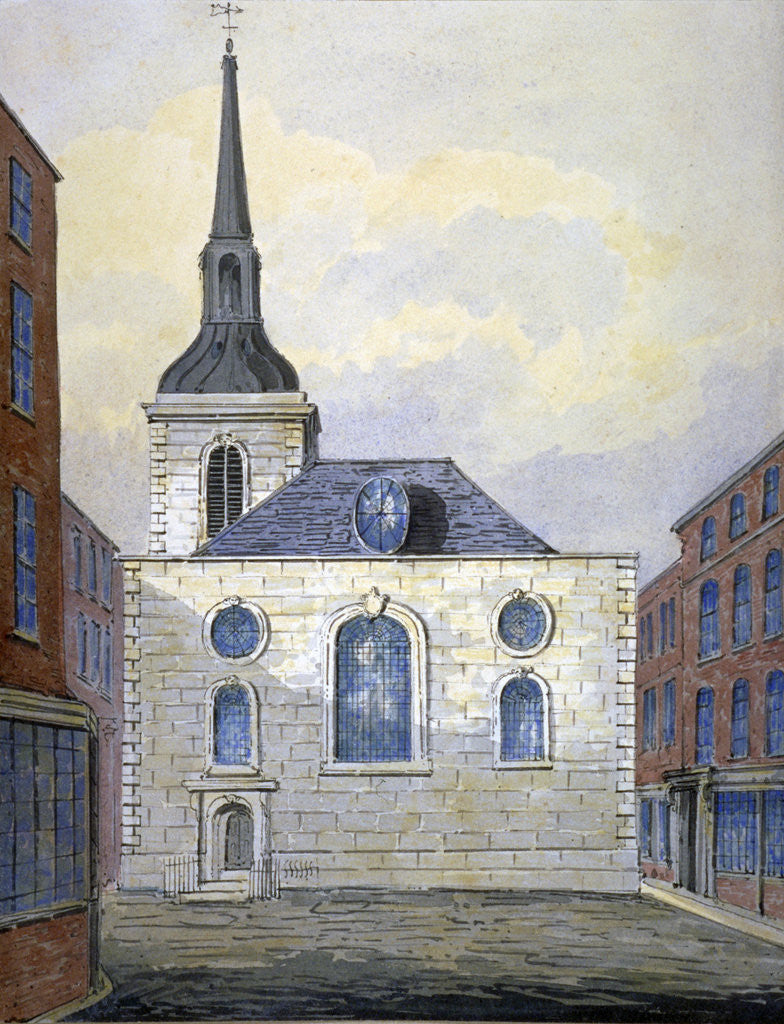 Detail of Church of St Mary Abchurch, City of London by William Pearson