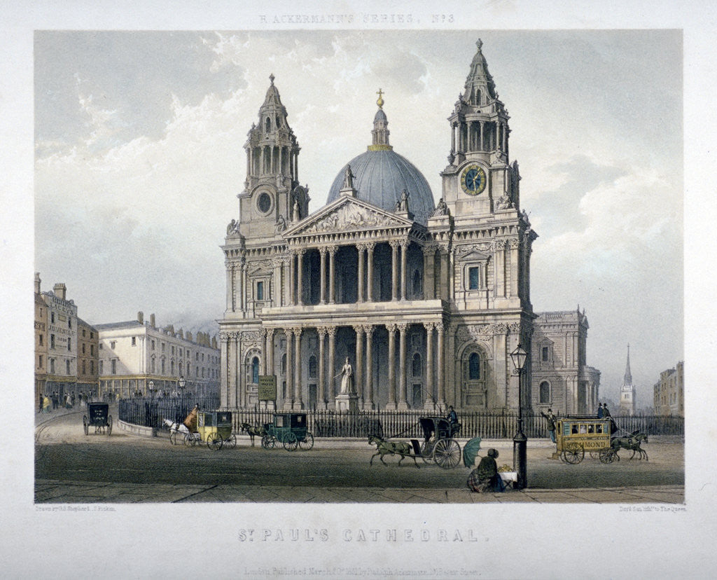 Detail of St Paul's Cathedral, City of London by