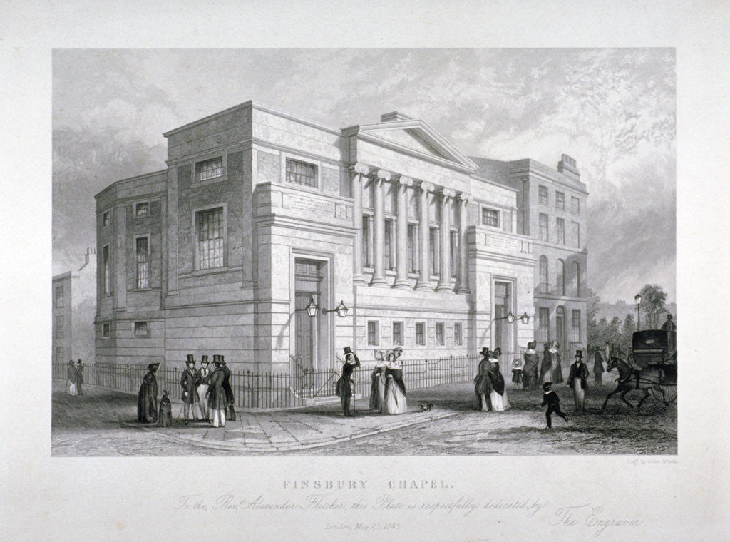 Finsbury Chapel, Blomfield Street, City of London by John Woods
