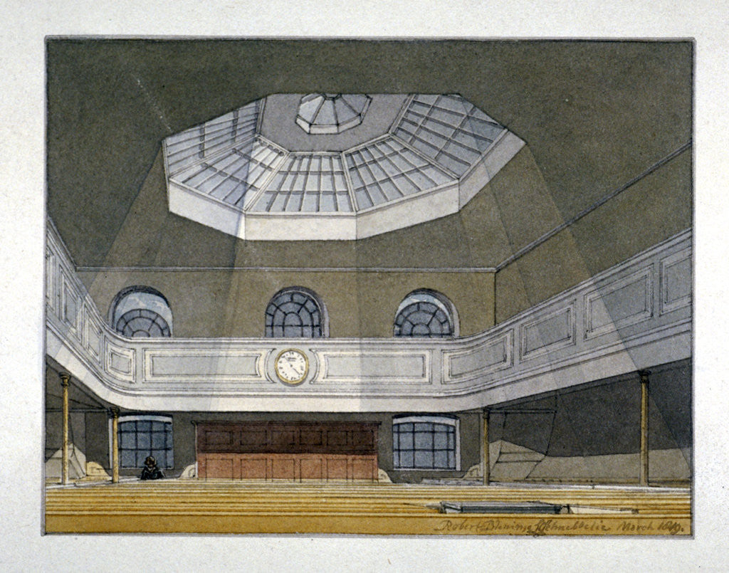Detail of Interior view of the King's Weigh House, Eastcheap, City of London by Robert Blemmell Schnebbelie