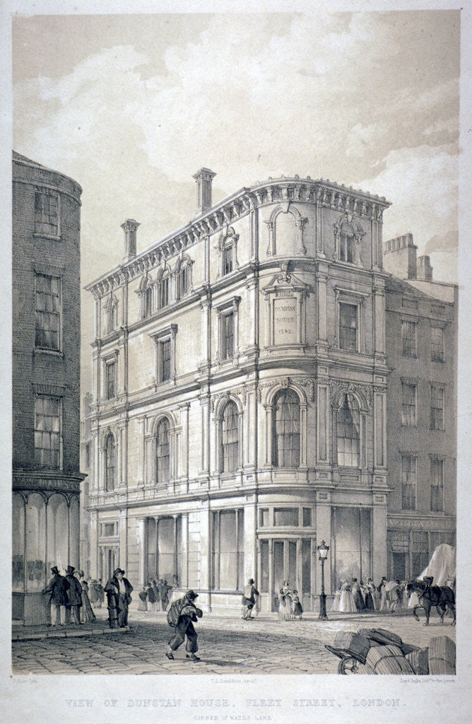 Detail of Dunstan House, on the corner of Fleet Street and Whitefriars Street, City of London by G Moore