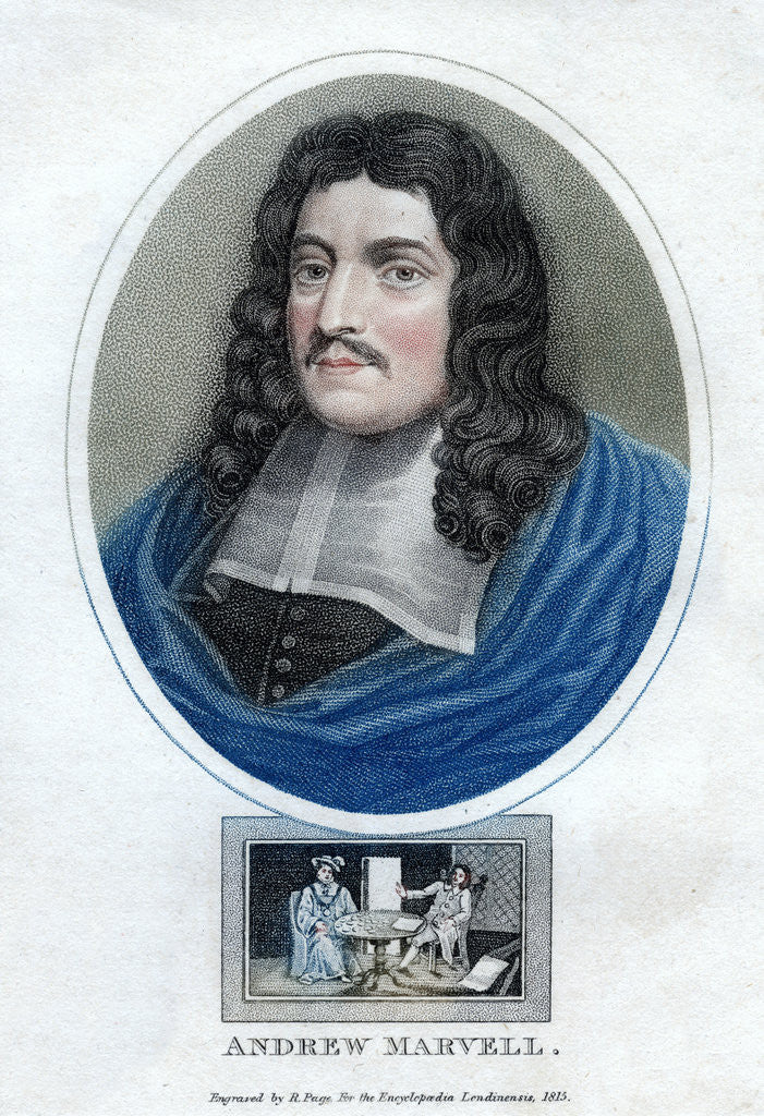 'Andrew Marvell', English metaphysical poet by R Page