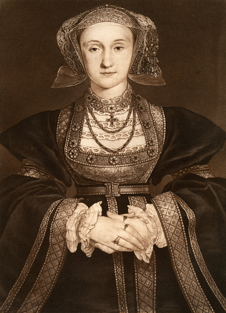 Detail of Anne of Cleves by Hans Holbein The Younger