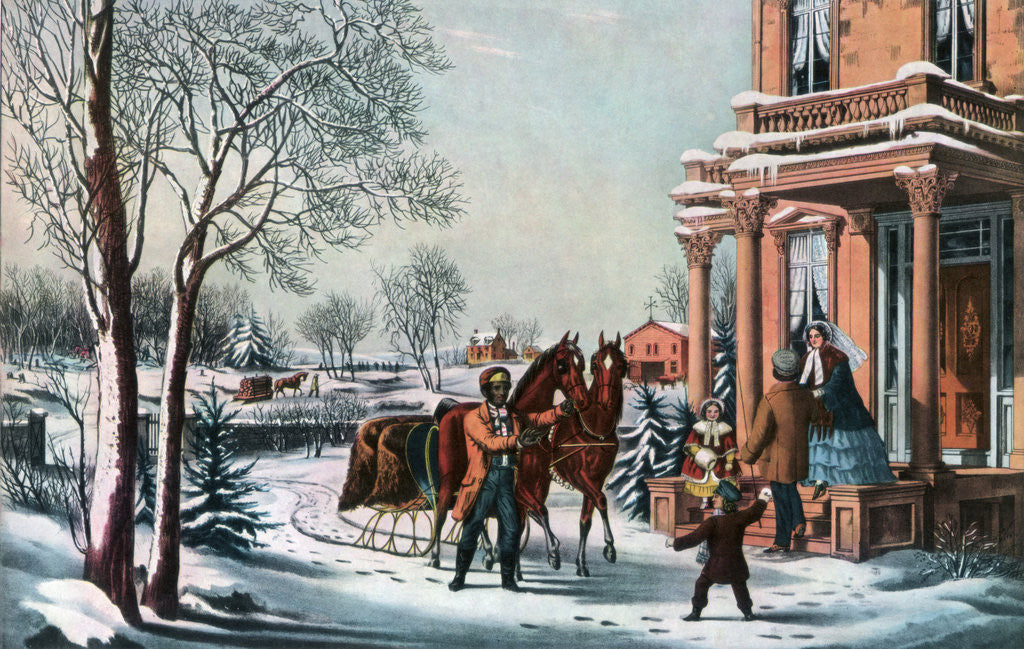 Detail of American Country Life by Currier and Ives