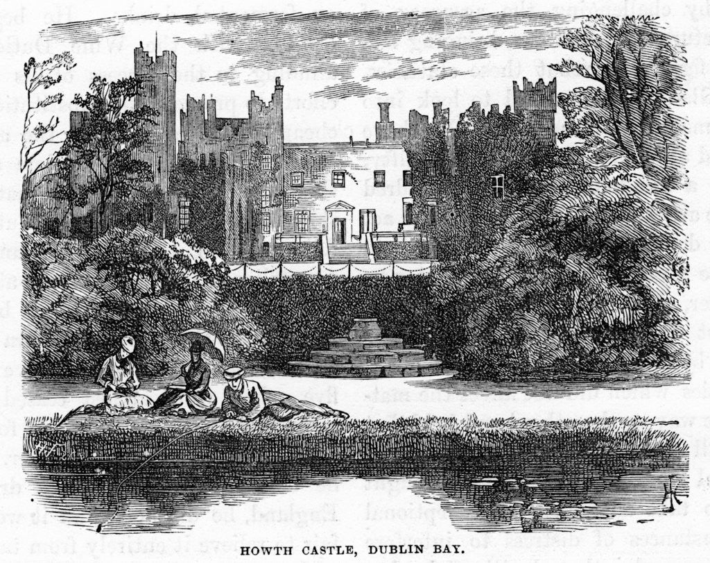 Detail of Howth Castle, Dublin Bay by Anonymous