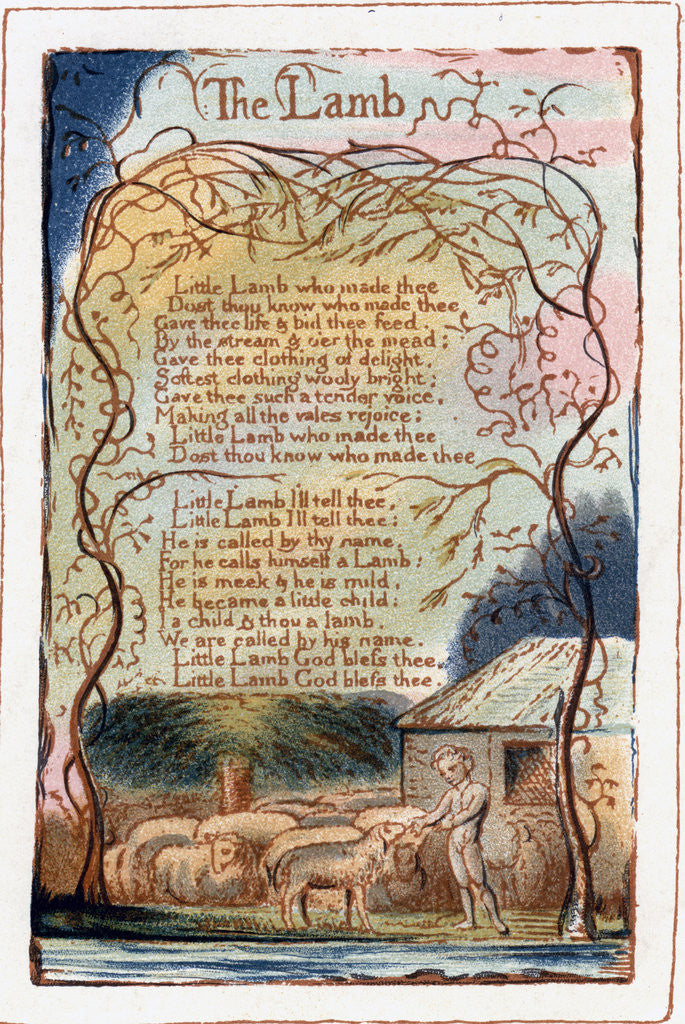 The Lamb, illustration from 'Songs of Innocence and of Experience'