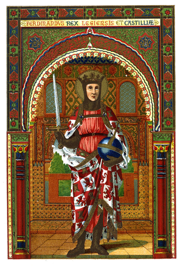 St Ferdinand (Ferdinand III of Castile and Leon) by Anonymous