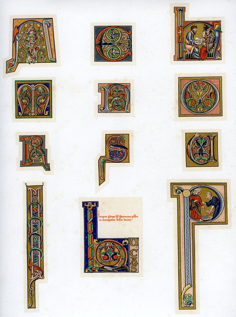 Detail of Illuminated initial letters by Anonymous