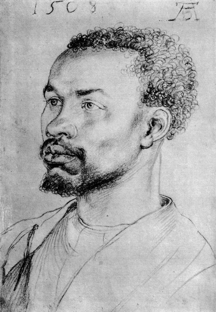 Detail of Portrait of a Negro by Albrecht Dürer
