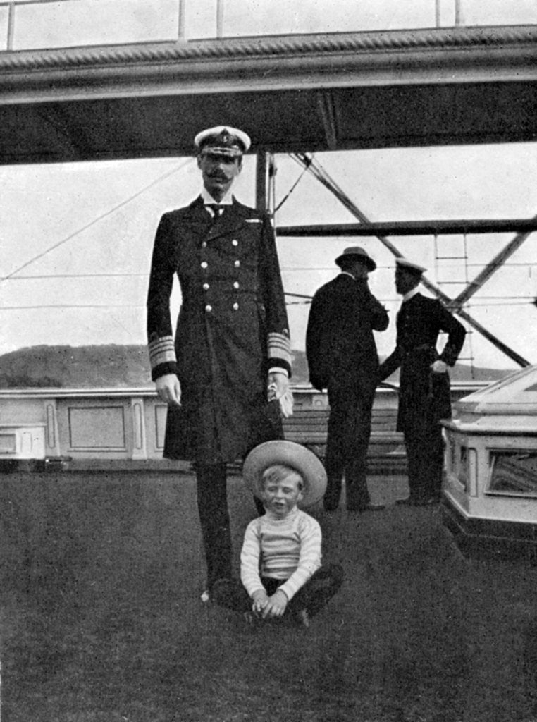 Detail Of King Haakon VII Norway 1872 1957 With His Son Olav