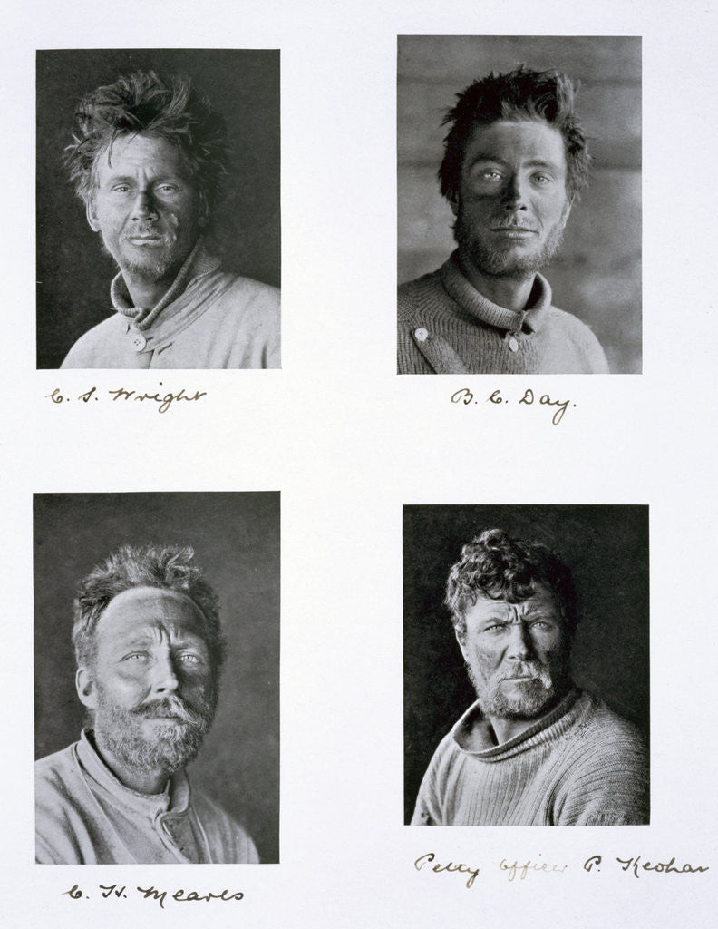 Detail of Members of Captain Scott's Antarctic expedition by Herbert Ponting