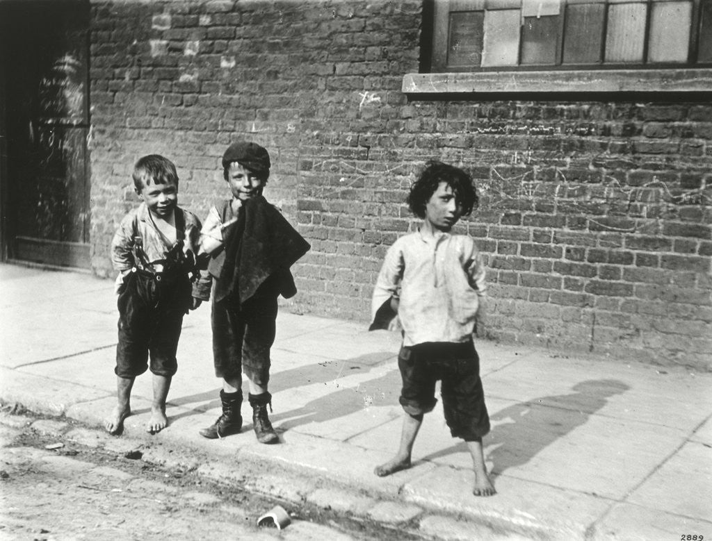 Detail of Street urchins in Lambeth by Anonymous