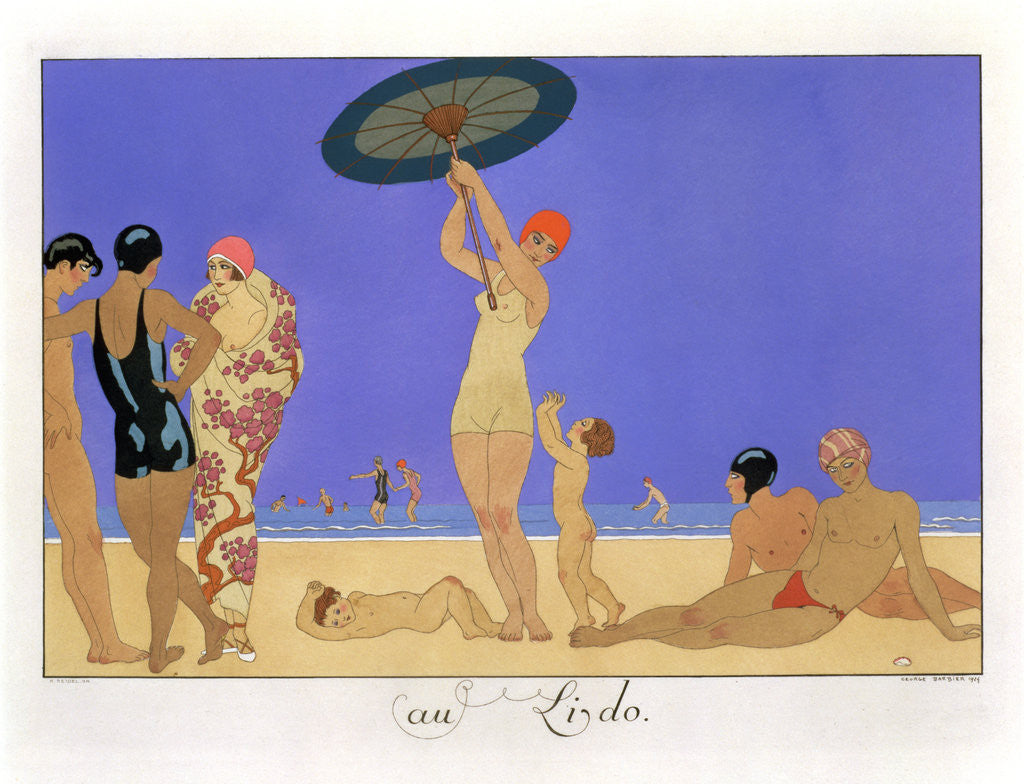 Detail of At the Lido by Henri Reidel