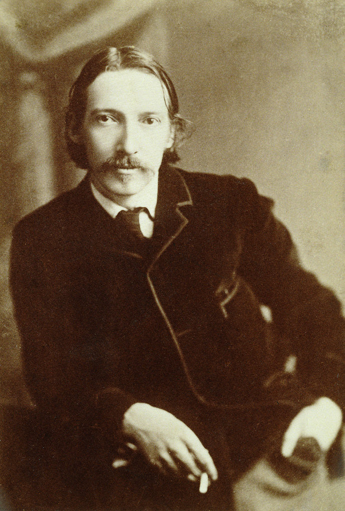 Detail of Robert Louis Stevenson, Scottish author by Anonymous