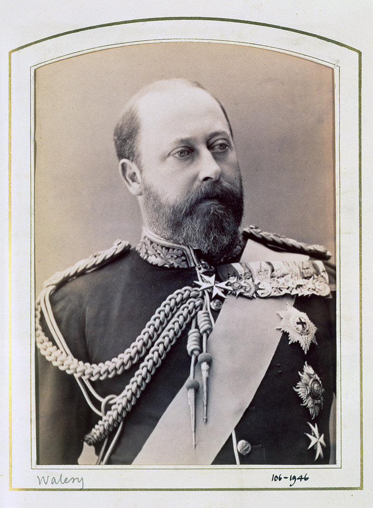 Detail of King Edward VII when Prince of Wales by Walery