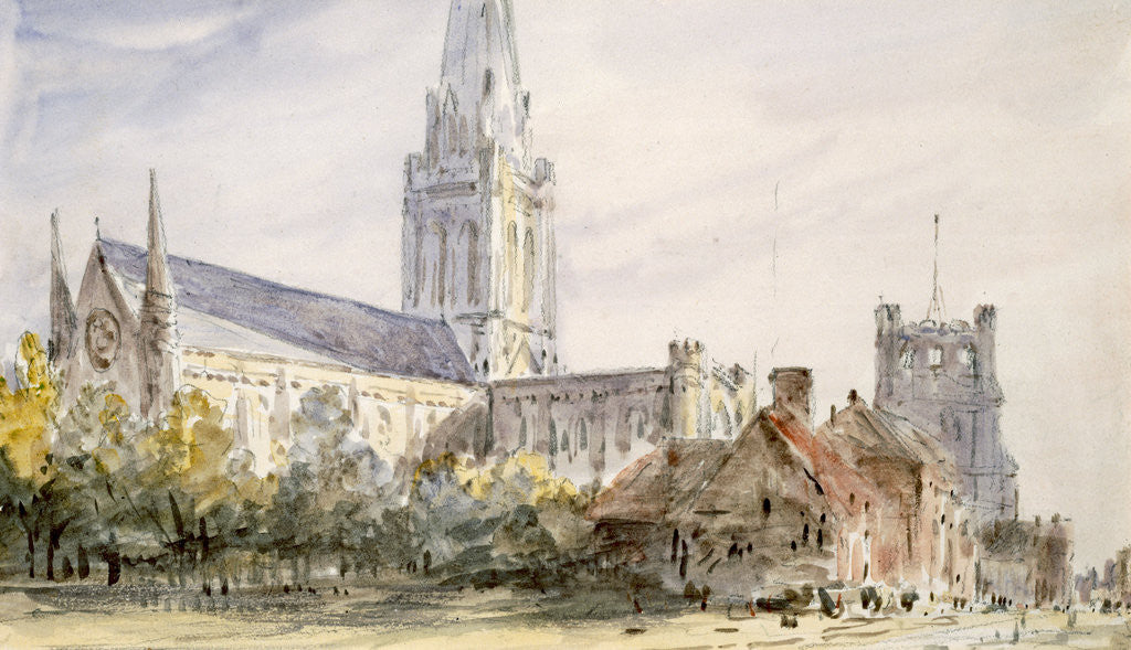 Detail of Chichester Cathedral, Sussex by John Constable