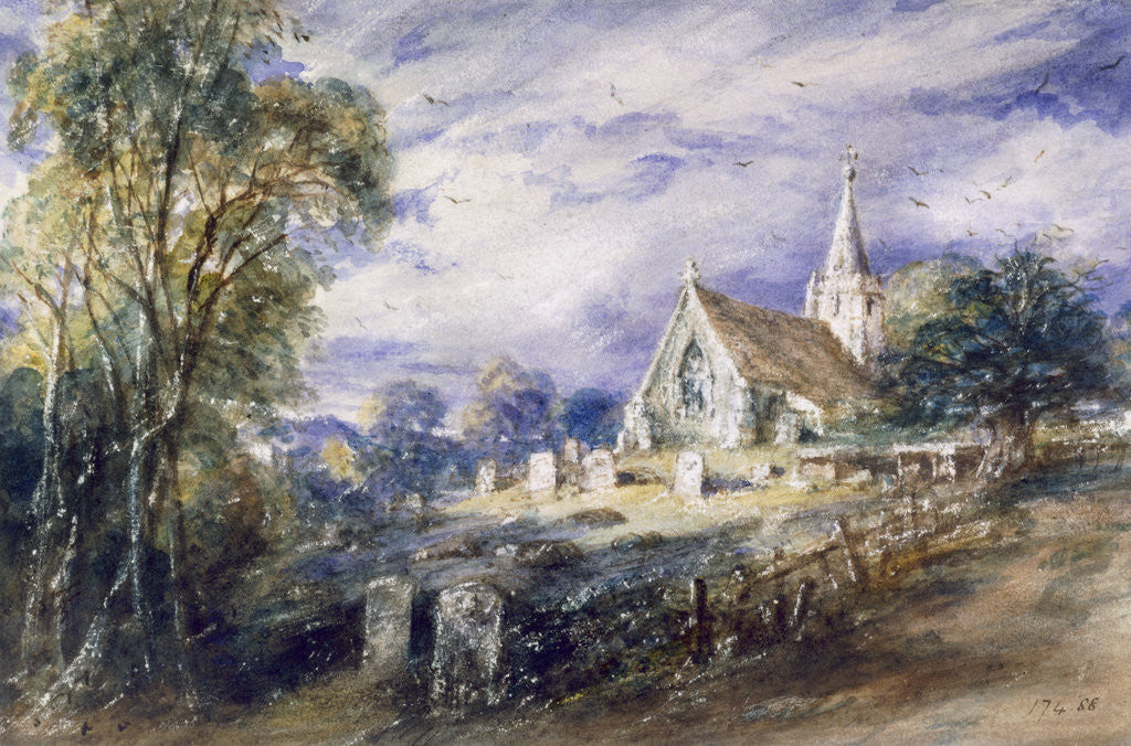 Detail of Stoke Poges Church, Buckinghamshire by John Constable