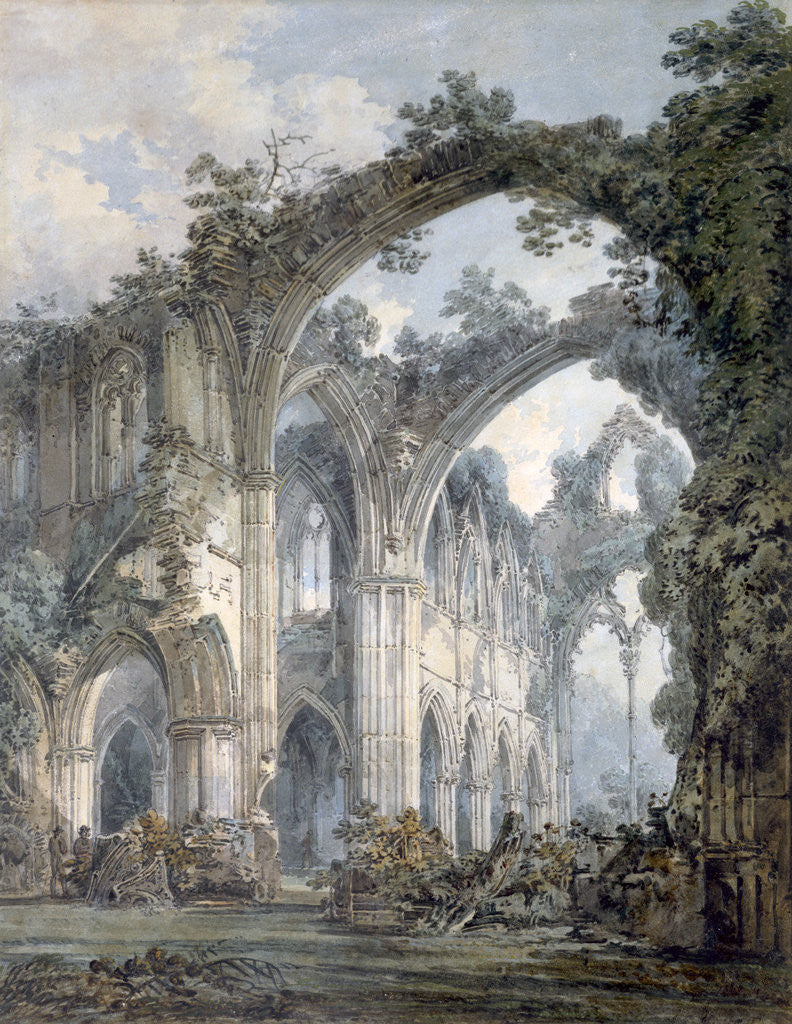 Detail of Inside of Tintern Abbey, Monmouthshire by JMW Turner