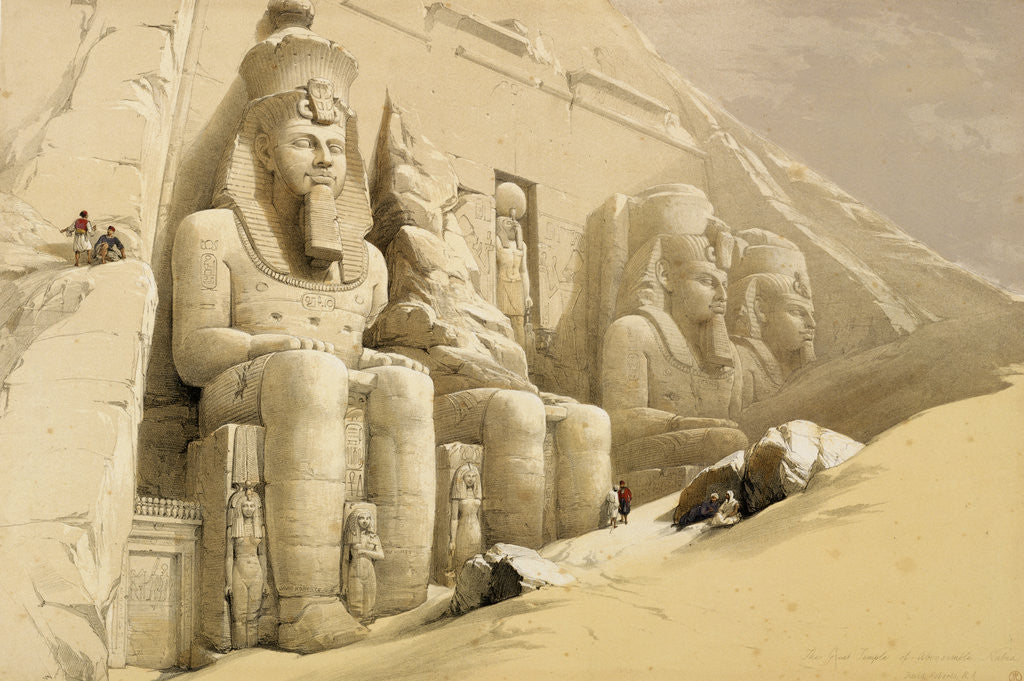 Detail of The Great Temple of Abu Simbel, Nubia by David Roberts