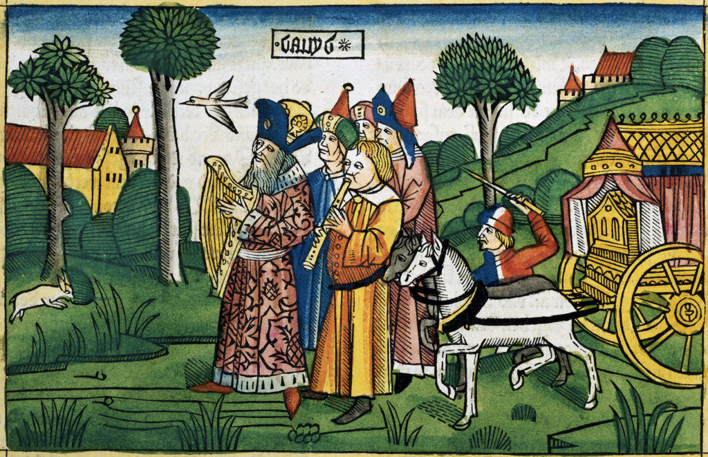 Detail of 2 Samuel 6:1-5: David brings the Ark to Jerusalem by Anonymous
