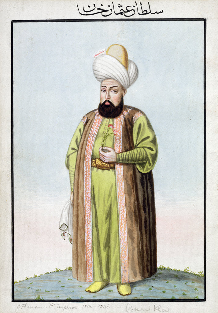 Detail of Osman I, Ottoman Emperor by John Young