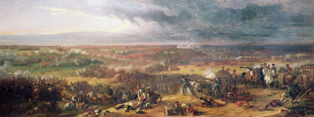 Waterloo Battle of Print over 80 years old also available unframed