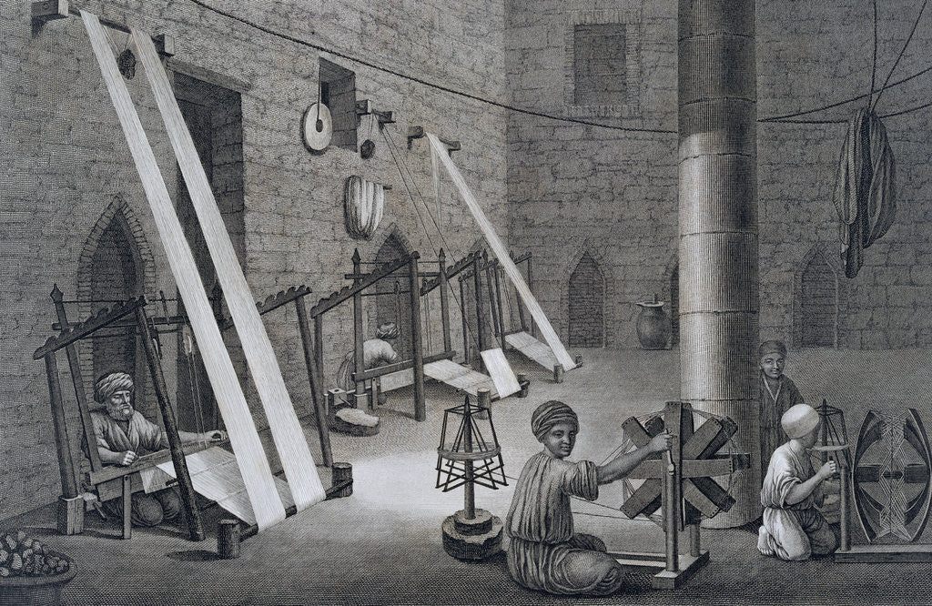 Detail of Interior of a Weavers Workshop by Schroeder