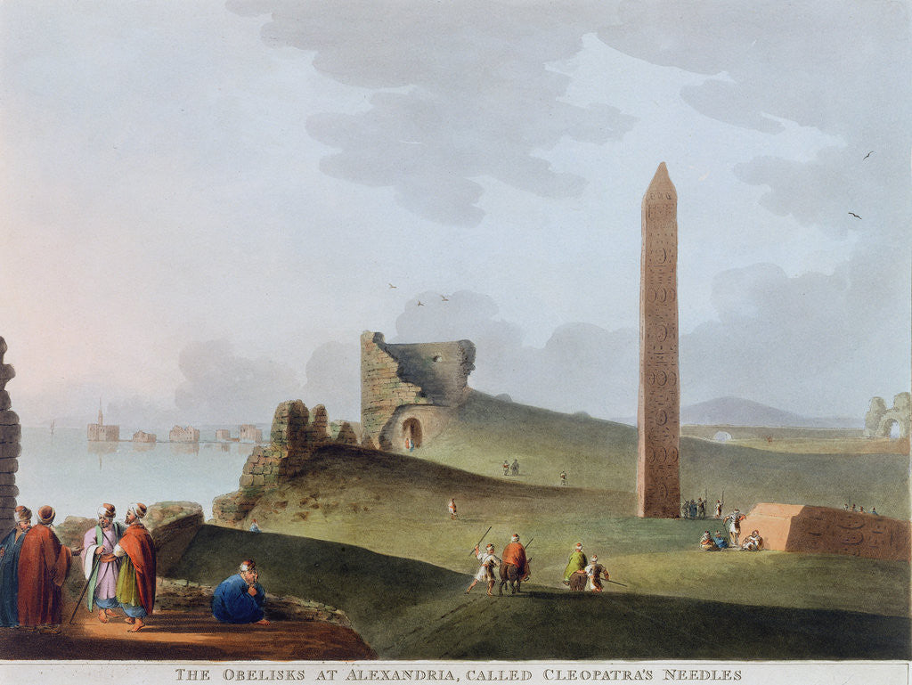 Detail of The Obelisks at Alexandria, called Cleopatra's Needles by Thomas Milton