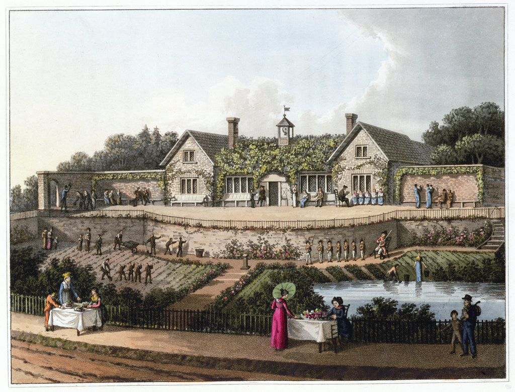 Detail of The Work House by Humphry Repton