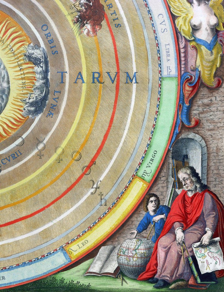 Detail of An astronomer by Andreas Cellarius