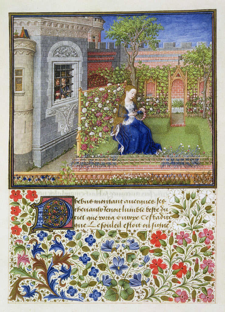 Detail of Emilia in her garden by Anonymous
