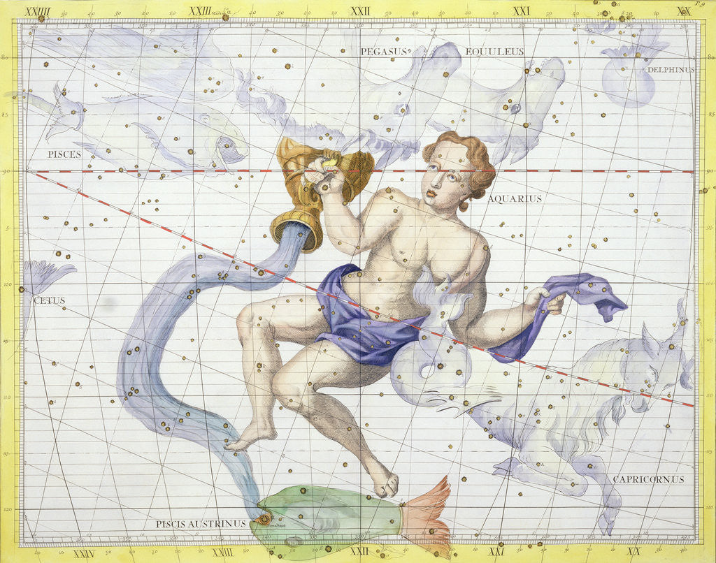 Detail of Constellation of Aquarius by Anonymous