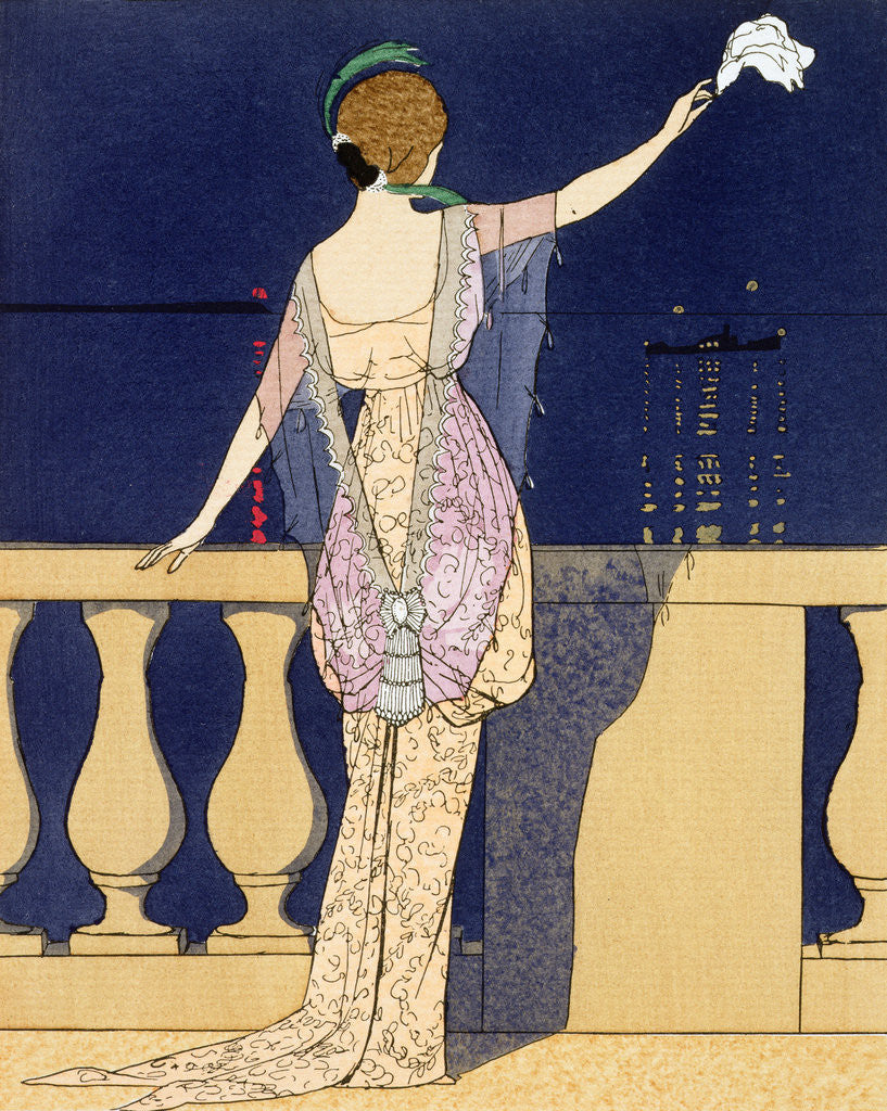 Detail of Farewell at Night by Georges Barbier