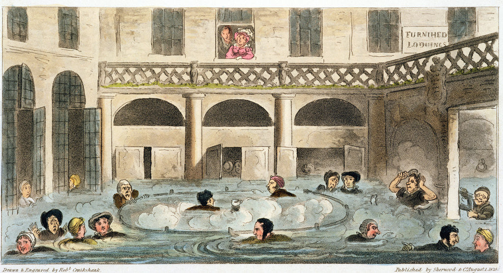 Detail of Public Bathing at Bath, or Stewing Alive by Isaac Robert Cruikshank