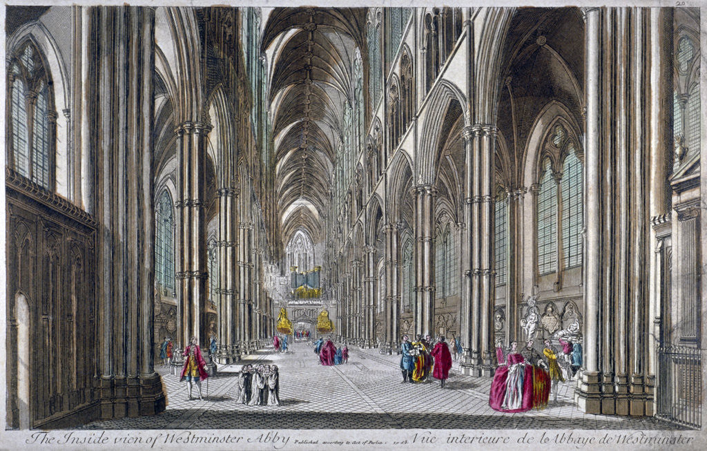Detail of Interior of Westminster Abbey, London by Anonymous