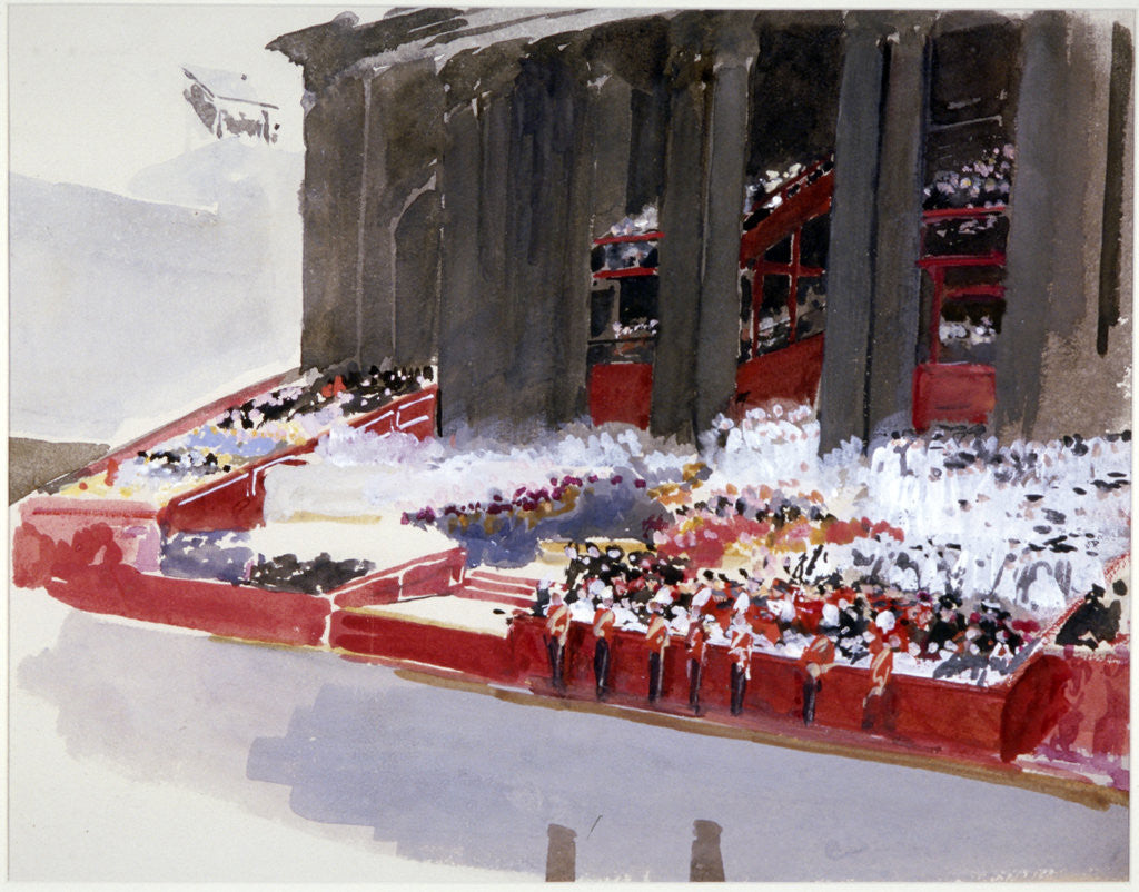 Detail of Study for 'Queen Victoria's Diamond Jubilee Service' by Andrew Garrick Gow