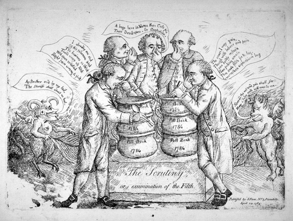 Detail of The scrutiny, or examination of the filth by Anonymous