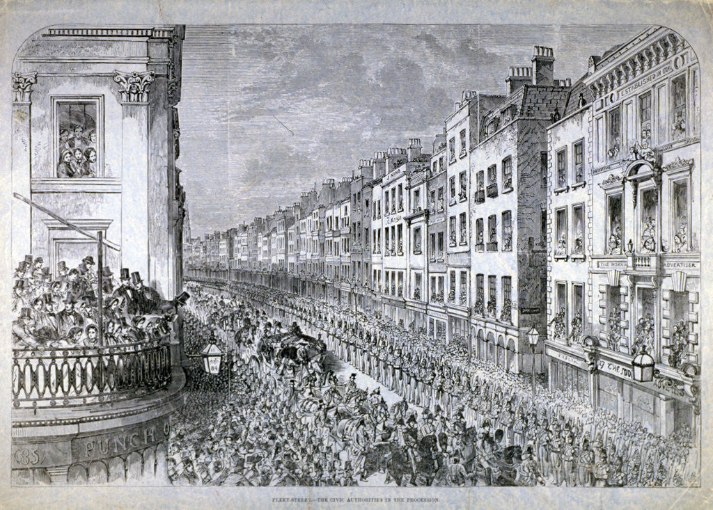 Detail of Fleet Street - the Civic Authorities in the Procession, City of London by Anonymous